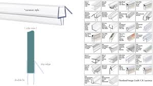 find your frameless shower door seal where to