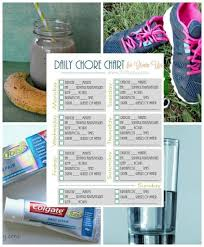 Printable Daily Health Chore Chart For Grown Ups Thrifty