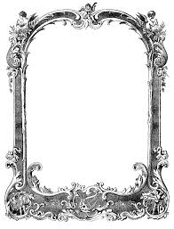 antique frame border png. 1410x1850 Free Vintage Borders Sourced From Sheet Music | Oh So Nifty Antique Frame Border Png