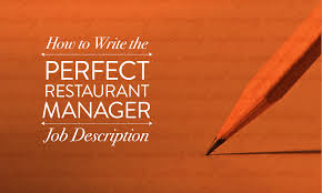 How To Write The Perfect Restaurant Manager Job Description | When I ...