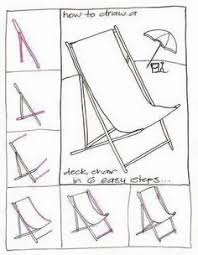 couch drawing easy. draw a deck chair. step by drawing. couch drawing easy