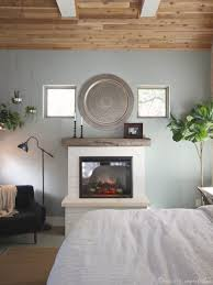 diy bedroom fireplace electric rustic