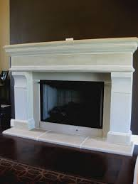 interior wonderful concrete fireplace hearth paint build cleaning cast mantel diy ideas white precast surround
