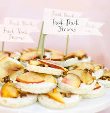 Peach And Pecan Sandwich Appetizers