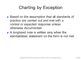 Nursing Documentation Charting By Exception Chapter 7 Documentation Of Nursing Care Copyright 2014