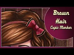 Copic Hair Color Chart Coloring Brown Hair With Copic Marker Time Lapse With Commentary