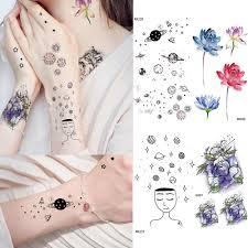 милая лунная татуировка наклейки женские детские гаджеты астра