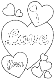 Small Picture Valentines Day I Love You Hearts Coloring Pages Batch Coloring