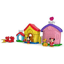 fisher little people magic of disney mickey and minnie s house playset