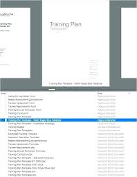 Training Plan Templates Apple Pages Numbers Software Template