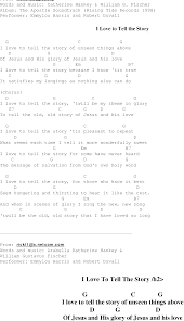 I Love to Tell the Story - Christian Gospel Song Lyrics and Chords