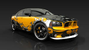 Dodge Charger Tuning Muscle Cars Design Graphic Wallpaper