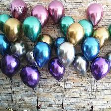 10pcs <b>Glossy Metal Pearl</b> Latex Balloons Thick <b>Metallic</b> Inflatable Air ...