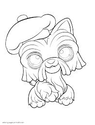 Littlest pet shop dog coloring pages