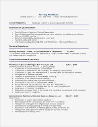 Nursing Resume Objective Examples Awesome Certified Nursing ...