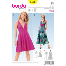 Sewing Patterns For Dresses Beauteous Misses Summer Vneck Dress Burda Young Sewing Pattern 48