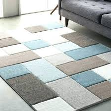teal and brown area rug photo 4 of 5 street modern geometric carved rugs blue orange