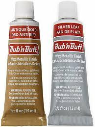 Amaco Rub N Buff Wax Metallic Finish For Crafts All