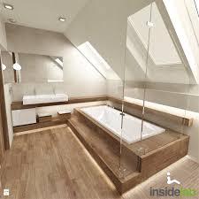 Badezimmer Mit Dachschräge Komplett Mit Fliesen In Holzoptik