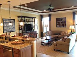 Living Room:Exciting Comfortable Family Room Decor With Brown And Blue  Sectional Sofa Also Frame