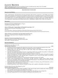 Research Resume Best Science And Research Resume Examples