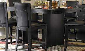 homelegance daisy round glass top counter height dining set table bench style black leather kitchen chairs
