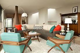 Mid Century Modern Living Room Furniture Dark Grey Velvet Sofa Having Cushions Mid Century Modern Living