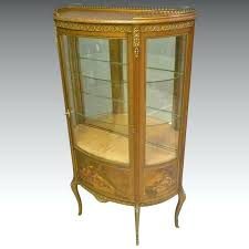 french style hand painted gold vitrine curio cabinet antiques on french style hand painted gold vitrine french empire style curio cabinet
