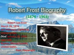 robert frost biography by a sosal a