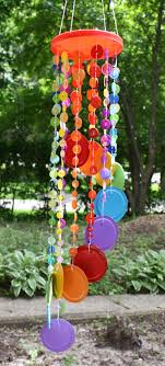 Rainbow Button Wind Chime by Amanda Formaro of Crafts by Amanda, an excerpt  from her