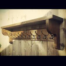 Vintage Style Coat Hook Rack With Shelf