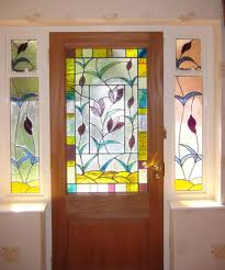 refreshing stained glass door panels stained glass front door side panels home design ideas