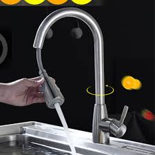 Sink Stream Durable Tap Spray Rotation Single Hole Mixer Pull Out