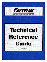 Torque Chart Fastenal Technical Reference Guide Fastenal