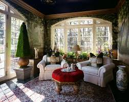 garden sun room at aurbach mansion eclectic living room