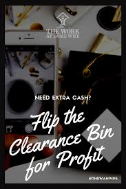 checking bin how to flip the clearance bin for extra cash