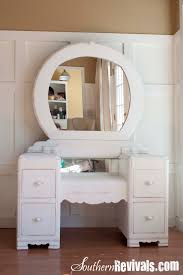 I recently revived an old vanity dresser with mirror for a client Iu0027m not  certain on itu0027s age but Iu0027m guessing the time period to be between 1930s u2013  1940s