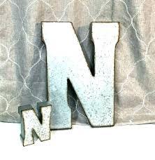 large metal letters for wall decor unique vintage let