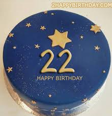 22nd Birthday Cake With Name 2happybirthday