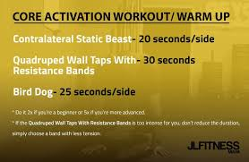 core workout warm up
