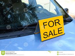 For Sale Sign On Car For Sale Sign On Car Sell A Car Concept Stock Photo Image Of