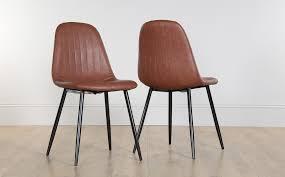 brooklyn leather dining chair tan black leg