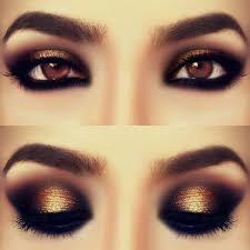 gold smokey eyes makeup tutorial