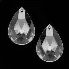 clear acrylic large faceted teardrop pendant 34x23mm 10 pieces lucite plastic beads beads beads pendants charms beadaholique