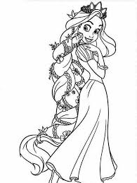 Small Picture Tangled Coloring Pages 9 Coloring