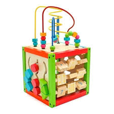 wooden baby toys wooden learning bead maze cube 5 in 1 activity center educational toy kids toys wooden baby toys vs plastic