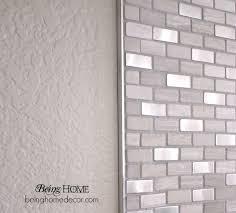 brilliant beautiful stainless steel backsplash trim super simple diy tile backsplash simple diy super simple and bricks