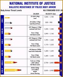 22 Magnum Ballistics Chart Ballistic Chart Body Armor Guns Ammo Police Gear