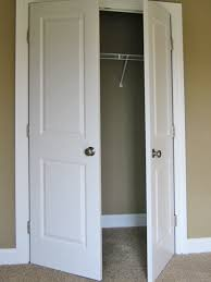 beautiful interior double closet door the classic regarding doors remodel 10 finished bi fold closet doors used as double