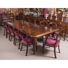 a fantastic dining set prising an antique william iv dining table and a vine set of
